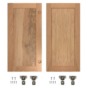 Red Oak Flat Panel Accessory Doors for 32 in. InvisiDoor Bookcase Door