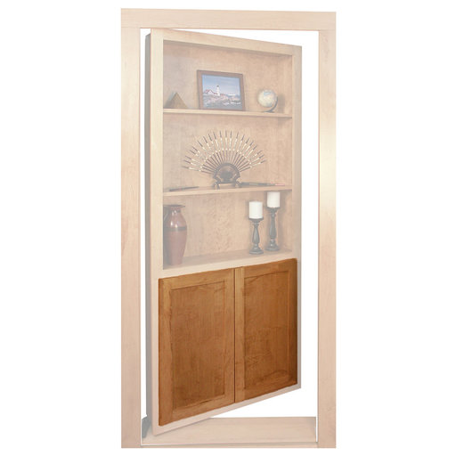 View a Larger Image of Red Oak Flat Panel Accessory Doors for 32 in. InvisiDoor Bookcase Door