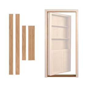 Red Oak Inswing Jam/Threshold Accessory for 32 in. or 36 in. InvisiDoor Bookcase Door