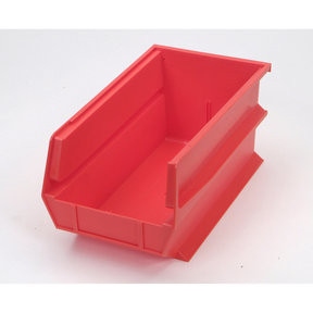 Red Stacking, Hanging, Interlocking Polypropylene Bins, 6 CT
