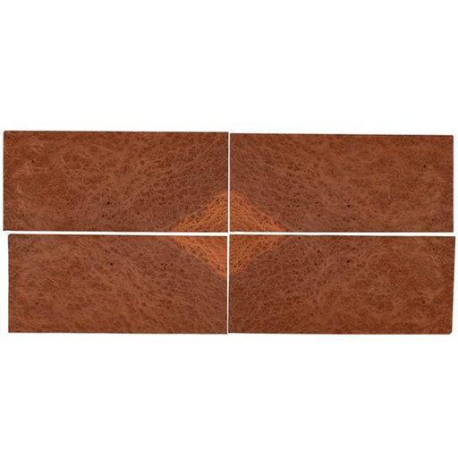 "View a Larger Image of Redwood Burl Veneer 8"" x 18"" Sequence Matched 4-piece"