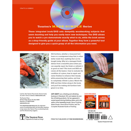 View a Larger Image of Refinishing Furniture Made Simple, Book with DVD