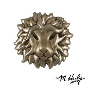 Regal Lion Door Knocker, Brushed and Polished Nickel Silver