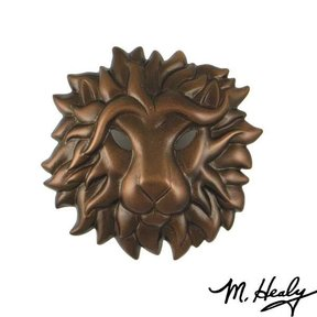 Regal Lion Door Knocker, Oiled Bronze