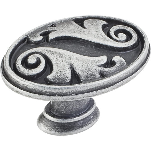"View a Larger Image of Regency Acanthus Knob,1-5/8"" O.L.,, Distressed Antique Silver"