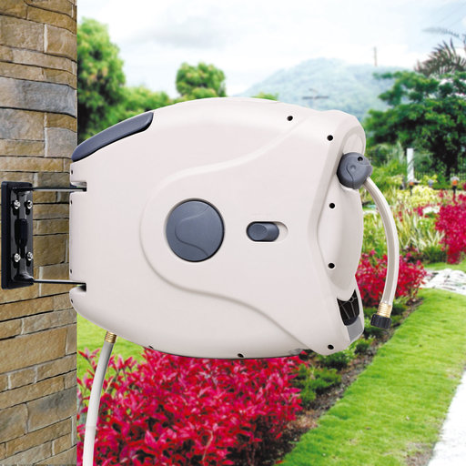 """View a Larger Image of Retractable Hose Reel with 1/2""""  130 ft Hose"""
