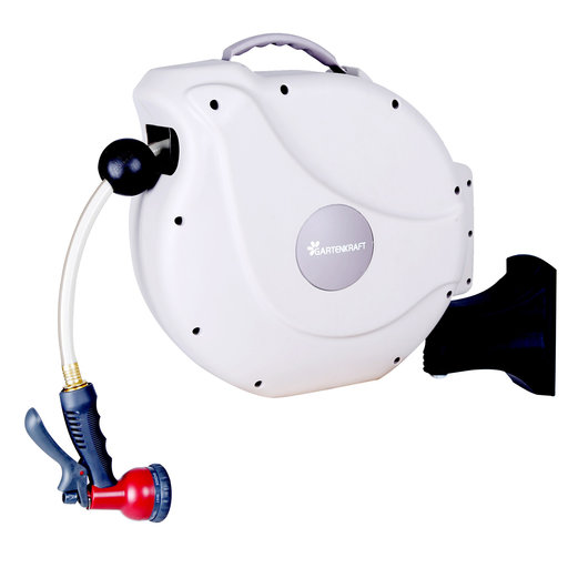 """View a Larger Image of Retractable Hose Reel with 1/2""""  50 ft Hose"""