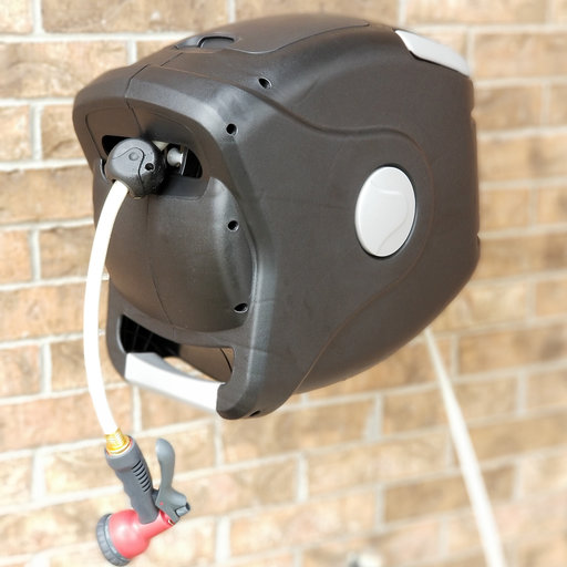 """View a Larger Image of Retractable Hose Reel with 1/2""""  75 ft Hose"""