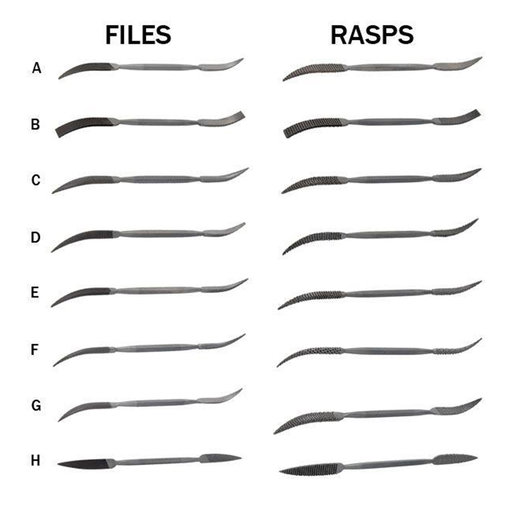 View a Larger Image of Riffler Files & Rasps, Complete Set of 16 - Best Value