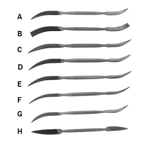 View a Larger Image of Riffler Files, Set of 8 (A-H)