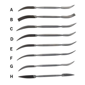 Riffler Files, Set of 8 (A-H)
