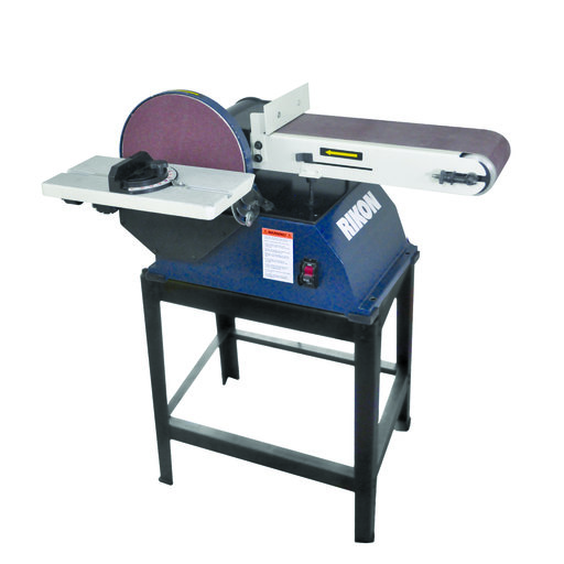 "View a Larger Image of 6"" x 48"" Belt, 10"" Disc Sander with Stand, 50-122"