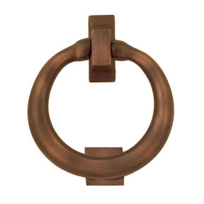 Ring Door Knocker - Oiled Bronze