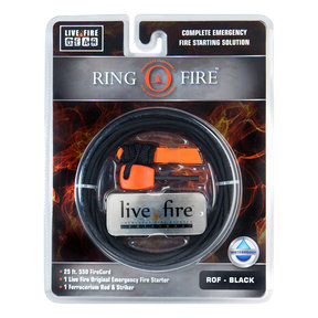 Ring O Fire BLACK Paracord