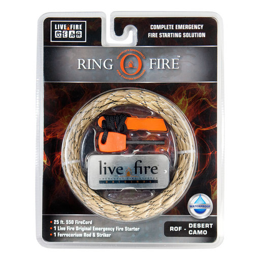 View a Larger Image of  Ring O Fire DESERTCAMO Paracord