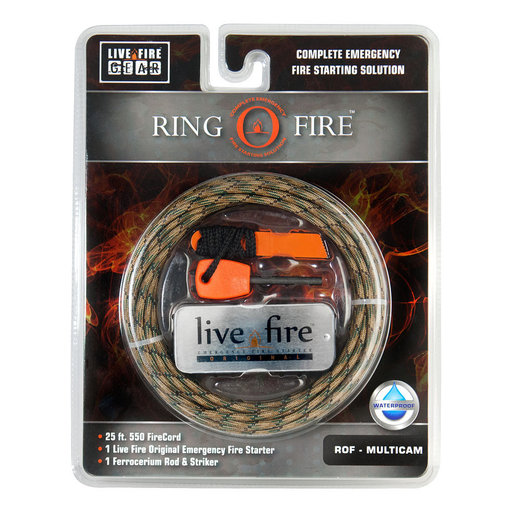 View a Larger Image of  Ring O Fire MULTICAM Paracord