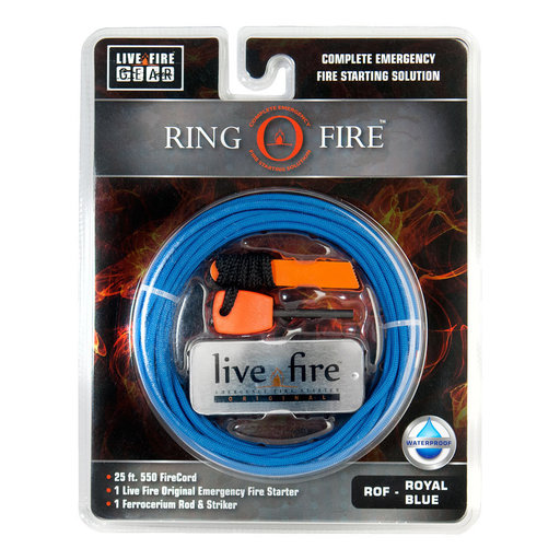View a Larger Image of  Ring O Fire ROYALBLUE Paracord