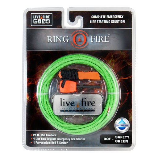 View a Larger Image of  Ring O Fire SAFETYGREEN Paracord