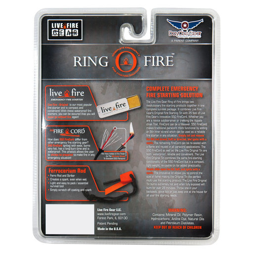 View a Larger Image of  Ring O Fire SAFETYORANGE Paracord