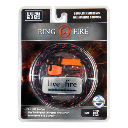 View a Larger Image of  Ring O Fire THINREDLINE Paracord