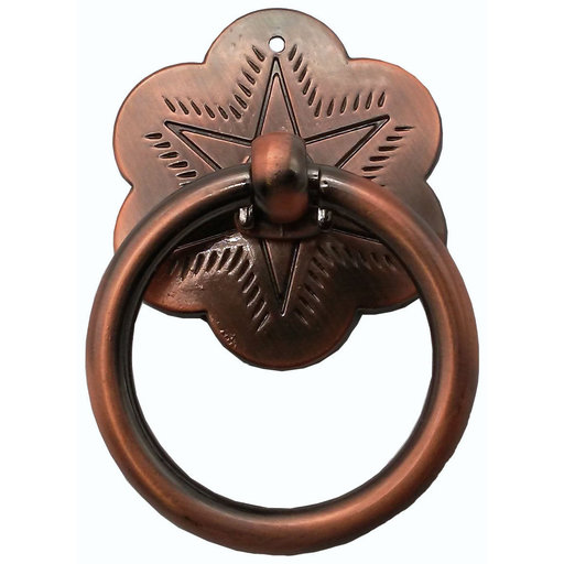 View a Larger Image of Ring Star Pull, Satin Copper Oxide