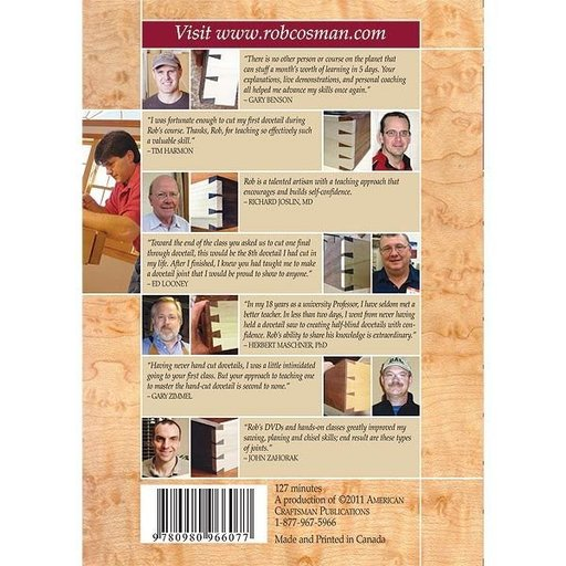 View a Larger Image of Hand-Cut Dovetails 2.0 DVD