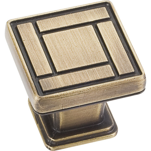 "View a Larger Image of Rochester Knob, 1-1/8"" O.L., Antique Brushed Satin Brass"