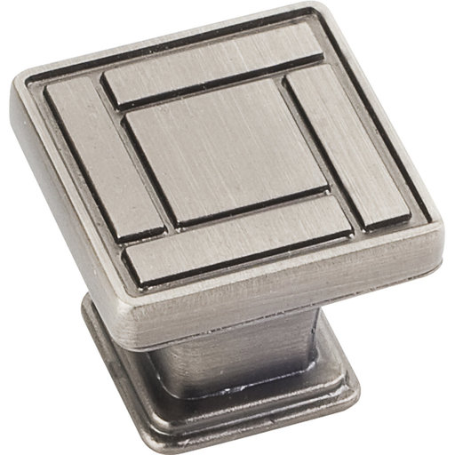 "View a Larger Image of Rochester Knob, 1-1/8"" O.L., Brushed Pewter"