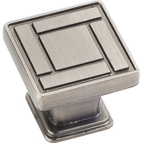 "Rochester Knob, 1-1/8"" O.L., Brushed Pewter"