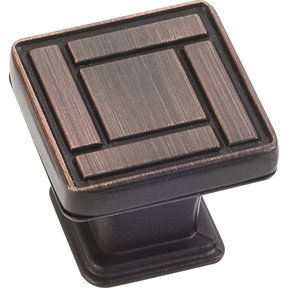 "Rochester Knob, 1-1/8"" O.L., Brushed Oil Rubbed Bronze"