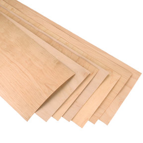 "Rock Hard Maple 12"" x 48"" 7 pc Skateboard Wood Veneer, Longboard Style"