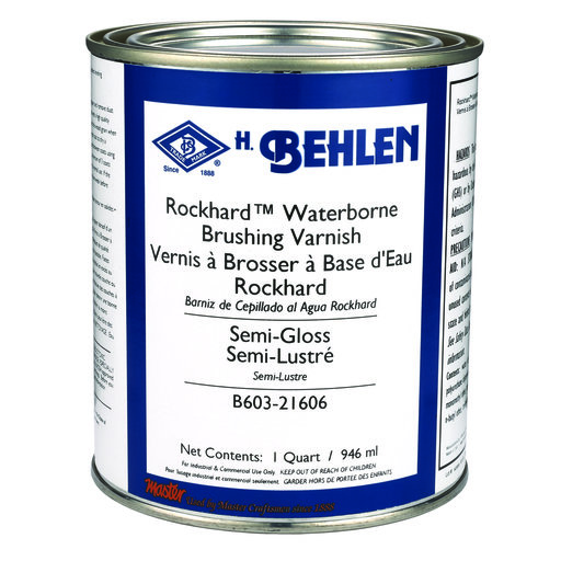 View a Larger Image of Rockhard Waterborne Brushing Lacquer Semi-Gloss Quart