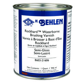 Rockhard Waterborne Brushing Lacquer Semi-Gloss Quart