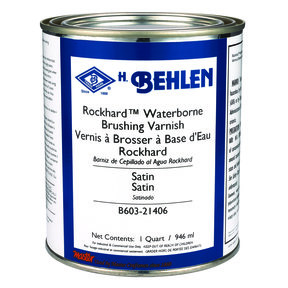 Rockhard Waterborne Brushing Varnish Satin Quart