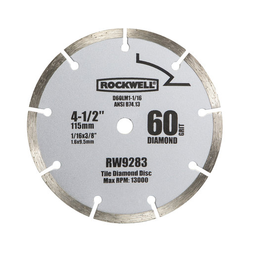 "View a Larger Image of 4-1/2""  Compact Diamond Circular Saw Blade, Model RW9283"