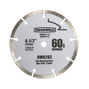"4-1/2""  Compact Diamond Circular Saw Blade, Model RW9283"