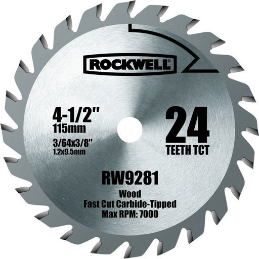 "View a Larger Image of 4-1/2"" Compact TCT Circular Saw Blade, Model RW9281"