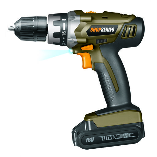 View a Larger Image of ShopSeries 18V Lithium Drill with Battery, Model SS2800