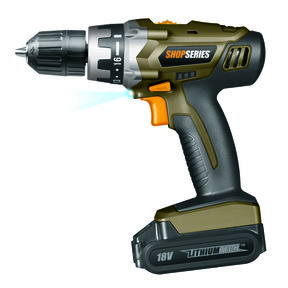 ShopSeries 18V Lithium Drill with Battery, Model SS2800