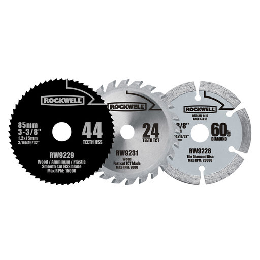 View a Larger Image of Versacut Blade Set, 3 pieces, Model RW9232K