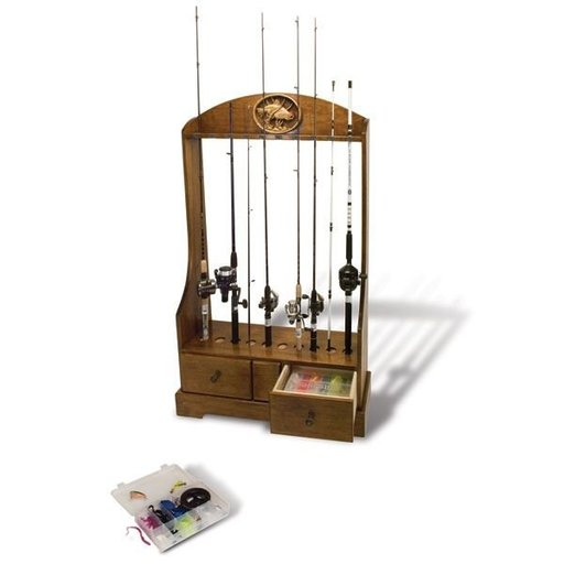 View a Larger Image of Rod Reel and Tackle Stand - Downloadable Plan