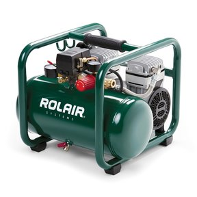 Rolair JC10PLUS 1 HP, 2.5-Gallon Oilless Air Compressor