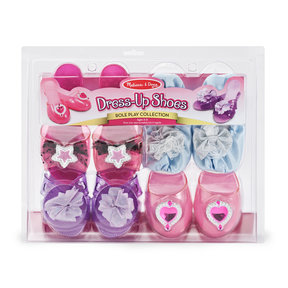 "Role Play Collection, Step In Style! Dress-Up Shoes, Pretend Play, Set (4 Pairs), 11"" H x 12"" W x 4.5"" L"