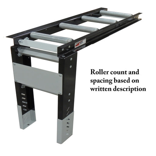 "View a Larger Image of Roller Table Extension 4' Kit - 4 rollers - 12"" Apart"