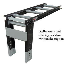 "Roller Table Extension 4' Kit - 7 rollers - 6"" Apart"
