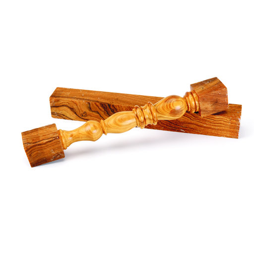 "View a Larger Image of Roman Olivewood 3/4"" x 3/4"" x 5"" Pen Blank 5-piece"