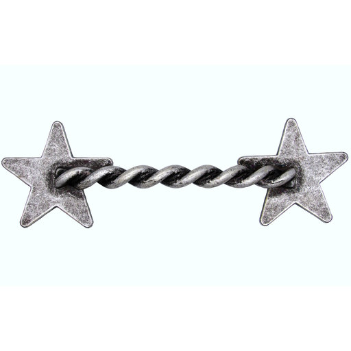 View a Larger Image of Rope Star Pull, Old Silver