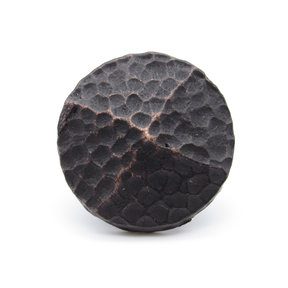 "Round 1-1/4"" Hammered Clavo, 8-Pack, Oil Rubbed Bronze"