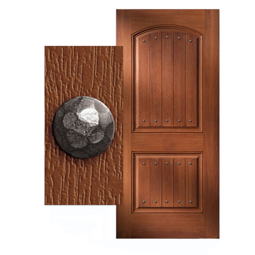 """View a Larger Image of Round 1"""" Hammered Clavo, 4-Pack, Nickel Oxide"""
