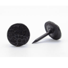 "Round 5/8"" Hammered Clavo, 4-Pack, Black Oxide"